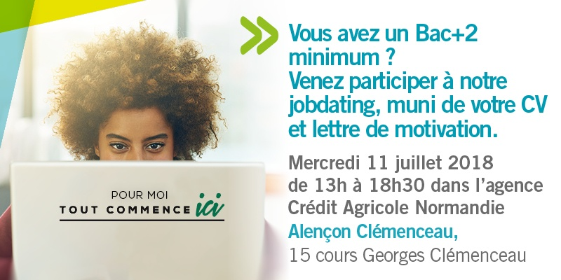Job dating credit agricole normandie